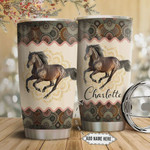 Horse Mandala Personalized Tumbler Cup Stainless Steel Insulated Tumbler 20 Oz Tumbler Cups For Travel/ Camping With Lid Great Gifts For Birthday Christmas Best Gifts For Horse Lovers