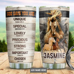 Personalized Horse Portrait Faith Tumbler Cup God Say You Are Stainless Steel Insulated Tumbler 20 Oz Perfect Gifts For Horse Racing Lovers Great Gifts For Birthday Christmas Thanksgiving
