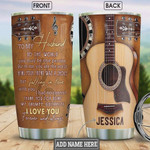 Personalized To My Husband Guitarist Falling In Love Stainless Steel Vacuum Insulated, 20 Oz Tumbler Cups For Coffee/Tea, Best Gifts From Wife To Husband On Birthday