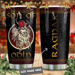 Odin God Jul Personalized Tumbler Cup Son Of Odin Stainless Steel Vacuum Insulated Tumbler 20 Oz Best Gifts For Birthday Christmas Thanksgiving Coffee/ Tea Tumbler With Lid