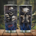 Skull Tumbler Cup, See No Hear No Speak No, Stainless Steel Insulated Tumbler 20 Oz, Perfect Gifts For Skull Lovers, Great Gifts For Birthday Christmas Halloween, Coffee/ Tea Tumbler With Lid