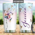 Personalized Dandelion Hummingbird Tumbler Cup You Never Walk Alone Stainless Steel Insulated Tumbler 20 Oz  Great Gifts For Hummingbird Lovers Best Gifts For Birthday Christmas Thanksgiving
