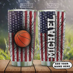 Personalized Basketball Stainless Steel Vacuum Insulated, 20 Oz Tumbler Cups For Coffee/Tea, Great Customized Gifts For Birthday Christmas Thanksgiving, Perfect Gifts For Basketball Lovers