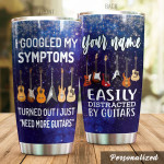 Personalized Guitar Tumbler I Need More Guitars Tumbler Cup Stainless Steel Tumbler, Tumbler Cups For Coffee/Tea, Great Customized Gifts For Birthday Christmas Perfect Gifts For Guitar Lovers