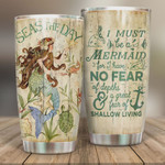 Personalized Mermaid Tumbler I Must Be A Mermaid Stainless Steel Vacuum Insulated Double Wall Travel Tumbler With Lid, Tumbler Cups For Coffee/Tea, Perfect Gifts For Birthday Christmas Thanksgiving