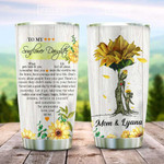 Sunflower Butterfly Momy Personalized Tumbler Cup To My Sunflower Daughter Stainless Steel Insulated Tumbler 20 Oz Gift Ideas From Mom To Daughter Best Gifts For Birthday Christmas