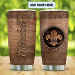 Personalized Scout Logo Wooden Style Stainless Steel Tumbler, Tumbler Cups For Coffee/Tea, Great Customized Gifts For Birthday Christmas Thanksgiving