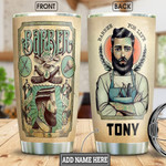 Personalized Barber Your Life Stainless Steel Tumbler, Tumbler Cups For Coffee/Tea, Great Customized Gifts For Birthday Christmas Thanksgiving