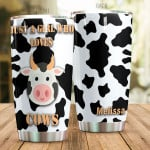 Personalized Lovely Cow Just A Girl Who Loves Cows Stainless Steel Tumbler, Tumbler Cups For Coffee/Tea, Great Customized Gifts For Birthday Christmas Thanksgiving