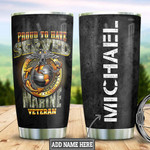 Personalized Marine Corps Veteran Tumbler Cup Proud To Have Served Stainless Steel Vacuum Insulated Tumbler 20 Oz Great Customized Gifts For Birthday Christmas Thanksgiving Tumbler With Lid