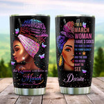 Personalized Black March Woman I'M A March Woman Stainless Steel Tumbler, Tumbler Cups For Coffee/Tea, Great Customized Gifts For Birthday Christmas Thanksgiving