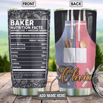Personalized Baking Nutrition Stainless Steel Tumbler, Tumbler Cups For Coffee/Tea, Great Customized Gifts For Birthday Christmas Thanksgiving