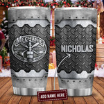 Metal Style Mechanic Personalized Tumbler Cup Stainless Steel Vacuum Insulated Tumbler 20 Oz Coffee/ Tea Tumbler With Lid Great Gifts For Birthday Christmas Thanksgiving Tumbler For Travel
