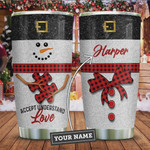 Autism Snowman Personalized Tumbler Cup Accept Understand Love Stainless Steel Vacuum Insulated Tumbler 20 Oz Travel Tumbler With Lid Great Gifts For Birthday Christmas Thanksgiving
