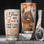 Horse Cardinals Personalized Tumbler Cup Those We Love Don't Go Away Stainless Steel Insulated Tumbler 20 Oz Perfect Gifts For Horse Lovers Great Gifts For Birthday Christmas Tumbler For Coffee/ Tea