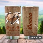 Personalized Golden Retriever Couple Break You And Me We Got This Stainless Steel Tumbler, Tumbler Cups For Coffee/Tea, Great Customized Gifts For Birthday Christmas Thanksgiving