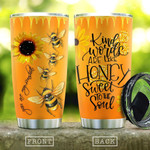 Bee Sunflower Tumbler Cup Kind Words  Are Like Honey  Stainless Steel Vacuum Insulated Tumbler 20 Oz Perfect Gifts For Bee Lovers Great Customized Gifts For Birthday Christmas Thanksgiving