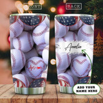 Baseball Lover Personalized Tumbler Cup, American Baseball, Stainless Steel Vacuum Insulated Tumbler 20 Oz, Perfect Gifts For Baseball Lovers, Great Gifts For Birthday Christmas Thanksgiving