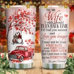 Christmas Tomte Gnomes Tumbler Cup, To My Wife, Tumbler For Coffee/Tea With Lid, Travel Tumbler, Stainless Steel  Insulated Tumbler 20 Oz, Great Gifts For Birthday Christmas Anniversary