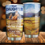 Personalized Riding Horse To My Daughter Tumbler I Believe In You Stainless Steel Vacuum Insulated Double Wall Travel Tumbler With Lid, Tumbler Cups For Coffee/Tea, Perfect Gifts For Birthday Christmas