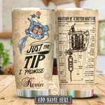Tattoo Just The Tip Personalized Tumbler Cup Anatomy Of A Tattoo Machine Stainless Steel Vacuum Insulated Tumbler Best Gifts For Birthday Christmas Thanksgiving Tumbler For Coffee/ Tea With Lid