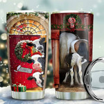 Dairy Cattle Christmas In The Door Tumbler Cup, Cow In Christmas, Stainless Steel Insulated Tumbler 20 Oz, Coffee/ Tea Tumbler With Lid, Great Gifts For Birthday Christmas
