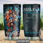 Personalized Black Women Bible Emergency Hotlines Stainless Steel Vacuum Insulated, 20 Oz Tumbler Cups For Coffee/Tea, Gifts For Birthday Christmas Thanksgiving, Best Gifts From Daughter To Mom