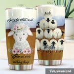 Personalized Sheep Tumbler Beautiful Baby Sheep Tumbler Cup Stainless Steel Tumbler, Tumbler Cups For Coffee/Tea, Great Customized Gifts For Birthday Christmas Perfect Gift For Sheep Lovers