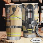 Firefighter Uniform Personalized Tumbler Cup Stainless Steel Insulated Tumbler 20 Oz Great Gifts For Firefighter  Best Gifts For Birthday Christmas Thanksgiving Tumbler For Coffee/ Tea With Lid