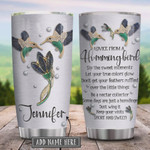 Personalized Hummingbird Advice Jewelry Style Stainless Steel Vacuum Insulated Tumbler 20 Oz, Gifts For Birthday Christmas Thanksgiving, Perfect Gifts For Hummingbird Lovers, Coffee/ Tea Tumbler
