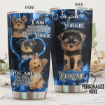 Personalized Yorkshire Dog Panther Leather Style Stainless Steel Vacuum Insulated, 20 Oz Tumbler Cups For Coffee/Tea, Gifts For Birthday Christmas Thanksgiving, Perfect Gifts For Dog Lovers