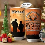 Personalized Hunting Dad Hunting Buddy Stainless Steel Tumbler, Tumbler Cups For Coffee/Tea, Great Customized Gifts For Birthday Christmas Thanksgiving Father's Day