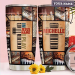 Personalized Faith Piano Stainless Steel Tumbler, Tumbler Cups For Coffee/Tea, Great Customized Gifts For Birthday Christmas Thanksgiving