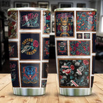 Tattoo Studio Wall Tumbler Cup Tattoo Salon Stainless Steel Vacuum Insulated Tumbler Best Gifts For Birthday Christmas Thanksgiving Coffee/ Tea Tumbler With Lid Gifts For Tattoo Lovers