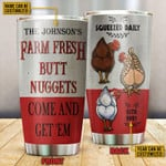 Personalized Chicken Nuggets Come Stainless Steel Tumbler, Tumbler Cups For Coffee/Tea, Great Customized Gifts For Birthday Christmas Thanksgiving