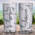 Personalized Dragonfly Fe Jewelry Style Stainless Steel Tumbler Perfect Gifts For Dragonfly Lover 20 Oz Tumbler Cups For Coffee/Tea, Great Customized Gifts For Birthday Christmas Thanksgiving