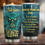 Personalized Advice From An Owl Jewelry Style Stainless Steel Vacuum Insulated, 20 Oz Tumbler Cups For Coffee/Tea, Gifts For Birthday Christmas Thanksgiving, Perfect Gifts For Owl Lovers