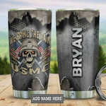 Personalized We Bring The Rain, Usmc Stainless Steel Tumbler W Lid 20oz