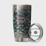 Personalized Mermaid Twinkle Scales Tumbler Stainless Steel Vacuum Insulated Double Wall Travel Tumbler With Lid, Tumbler Cups For Coffee/Tea, Perfect Gifts For Birthday Christmas Thanksgiving