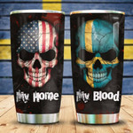 Swedish Blood Tumbler Cup My Home My Blood Stainless Steel Vacuum Insulated Tumbler Best Gifts For Birthday Christmas Thanksgiving Tumbler For Coffee/ Tea With Lid Travel Tumbler