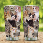 3D Picture Funny Cat Stainless Steel Vacuum Insulated, 20 Oz Tumbler Cups For Coffee/Tea, Great Customized Gifts For Birthday Christmas Thanksgiving, Perfect Gifts For Cat Lovers