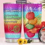 Crochet Personalized Tumbler Cup Yarn Definition Stainless Steel Vacuum Insulated Tumbler 20 Oz Great Customized Gifts For Birthday Christmas Thanksgiving Coffee/ Tea Tumbler With Lid