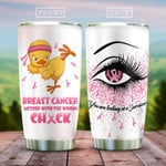 Chick You Are Looking At A Survivor Stainless Steel Tumbler, Tumbler Cups For Coffee/Tea, Great Customized Gifts For Birthday Christmas Thanksgiving