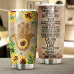 Yoga Hamsa Tumbler Today Is A Good Day Stainless Steel Vacuum Insulated Double Wall Travel Tumbler With Lid, Tumbler Cups For Coffee/Tea, Perfect Gifts For Birthday Christmas Thanksgiving
