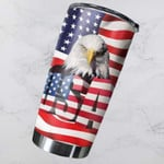 Bald Eagle US Flag Tumbler American Flag Stainless Steel Tumbler, Tumbler Cups For Coffee/Tea, Great Customized Gifts For Birthday Christmas Thanksgiving