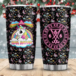 Unicorn Sigil Of Lucifer Satan Tumbler Cup Black Stainless Steel Insulated Tumbler 20 Oz Perfect Gifts For Unicorn Lovers Best Gifts For Birthday Christmas Thanksgiving Coffee/ Tea Tumbler