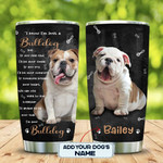 English Bulldog Personalized Tumbler Cup, Always Be By Your Side, Stainless Steel Vacuum Insulated Tumbler 20 Oz, Coffee/ Tea Tumbler  With Lid, Great Gifts For Dog Lovers On Birthday Christmas