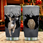 Deer Crack Tumbler Cup, Stainless Steel Insulated Tumbler 20 Oz, Coffee/ Tea Tumbler With Lid, Great Gifts For Deer Lovers, Great Customized Gifts For Birthday Christmas Thanksgiving