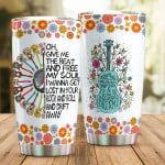 Hippie Guitar Give Me The Beat And Free My Soul Stainless Steel Tumbler, Tumbler Cups For Coffee/Tea, Great Customized Gifts For Birthday Christmas Thanksgiving