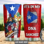 Personalized Puerto Rico Taino Warrior Pciture Tumbler Cup It's In My Dna Red Stainless Steel Vacuum Insulated Tumbler 20 Oz Great Gifts For Birthday Christmas Thanksgiving Coffee/ Tea Tumbler